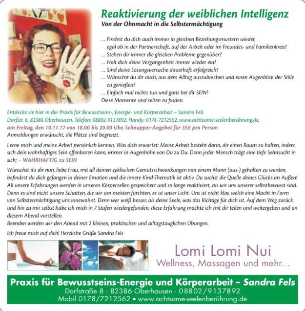 Praxis für Bewusstseins- Energie- und Körperarbeit - Sandra Fels